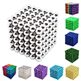 Yiteng 強力磁石の立体パズル!マグネットボール216個セット5mm (シルバー)