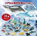 海の仲間たちフィギュア 全36種セット ジオラマ アニマル 置物 魚 魚フィギュア カニ ペンギン エビ サメ クジラ イルカ