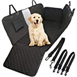 Fiyobo Dog Seat Cover with View Mesh, Waterproof Dog Car Seat Covers, Scratch Prevent Antinslip Dog Car Hammock for Trucks ,C