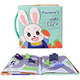 TUMAMA Soft Activity Cloth Book for Life Education, Learning Skill, Sensory and Developmental, Baby Toy Crinkle Cloth Books,