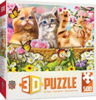 MasterPieces 3D Extreme Lenticular Cuddly Kittens Puzzle (500 Piece)