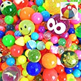 1000入 スーパーボールアソート【スーパーボール】(1袋)  / お楽しみグッズ(紙風船)付きセット [おもちゃ&ホビー]