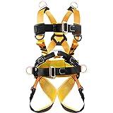 ロッククライミングハーネスXbenシットハーネス 登山ハーネス 安全帯ハーネス アウトドアハーネス D環&つり環つき安全ベルト懸垂下降 高所作業用 安全確保 男女兼用 子供全身保護 フルハーネス