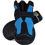 犬用靴 Mud Monsters (マッドモンスターズ) 2個入り [並行輸入品] (7 / M-L (横:~7.0cm、縦:~10.2cm), ブルー)