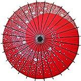 POYA 和傘 舞踊傘 桜渦 防水加工 四色展開(赤)