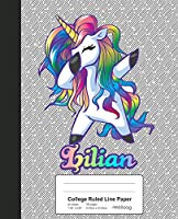 College Ruled Line Paper: LILIAN Unicorn Rainbow Notebook (Weezag College Ruled Line Paper Notebook)