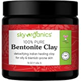 Bentonite Indian Healing Clay by Sky Organics I 453 g I 100% Pure & Natural Bentonite Clay-Therapeutic Grade - Face Skin Care