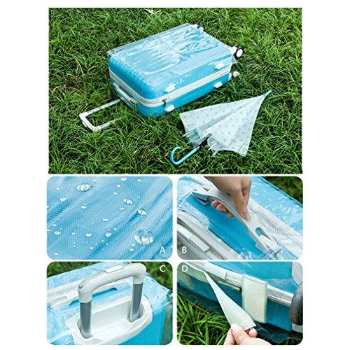 Honel スーツケース カバー トランクカバー スーツケースカバー キャリーバッグ カバー 旅行 PVC素材 トランク 保護 汚れ 傷 防止 透明 30インチ対応