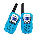 Retevis RT-388 Kids Walkie Talkies LCD Display VOX Scan Flashlight Walkie Talkies Toys for Children(Blue,1 Pair)