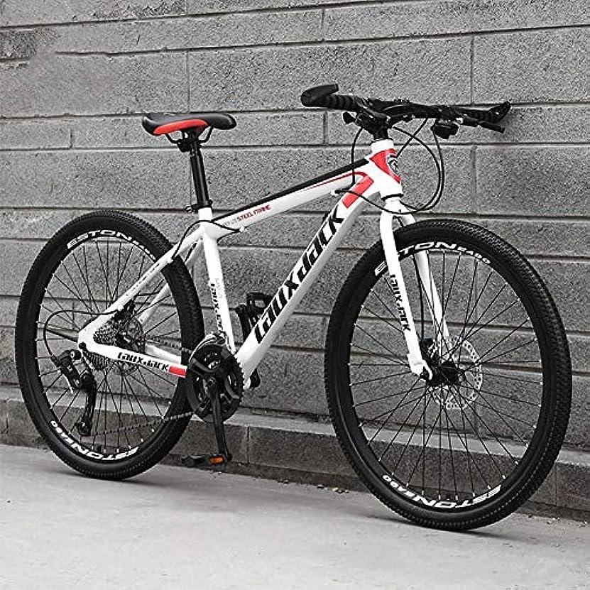 愛されし者インタフェース明らかにするロードバイク27スピードギアロード自転車デュアルディスクブレーキ自転車スポークホイール、26インチ