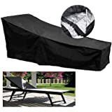 Fellie Cover 210cm Patio Chaise Lounge Covers, Durable Outdoor Chaise Lounge Covers Water Resistant