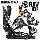 17-18 FLOW/フロー NX2 HYBRID メンズ レディース ビンディング バインディング スノーボード 2018 L(25.5~29.5cm) CADMIUM