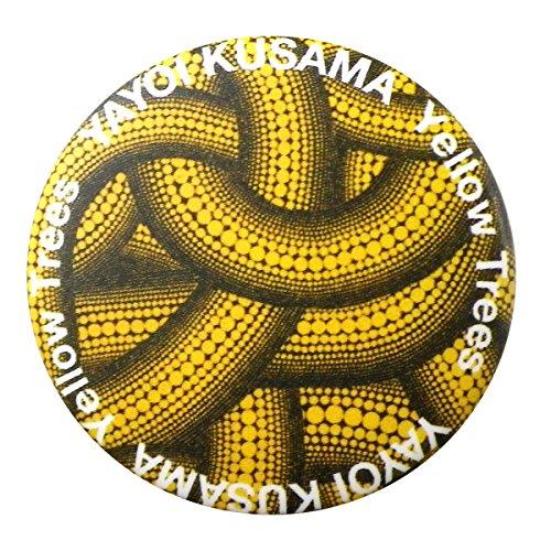(Yayoi Kusama) 草間彌生 バッジ バッチ アクセサリー PUMPKIN パンプキン かぼちゃ 南瓜 水玉 ドット 黄色 イエロー 雑貨 現代アート (C)