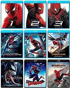 【Amazon.co.jp限定】スパイダーマン オール9本セット (スパイダーマン:ファー・フロム・ホーム ラゲッジステッカー2種セット&トラベルカードホルダー付き) [Blu-ray]