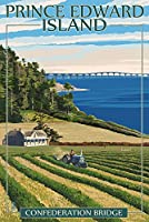 Prince Edward島–Confederationブリッジとファーム 12 x 18 Art Print LANT-53749-12x18