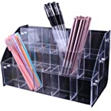 Clear Acrylic Pen Holder Stationery Store Storage Brush Case Clear Display Stand Desktop Writing Pot Writing Pencil Organiser