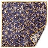 (エムエイチエー) M.H.A.style ポケットチーフ ペイズリー リバーシブル フォーマル メンズ スーツ 21461 A.ベージュ