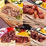 竹串付き味付け生肉キューブ5種お得セット (20% OFF) (ケバブ) 【販売元:The Meat Guy(ザ・ミートガイ)】