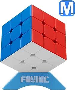 FAVNIC 磁石キューブ【磁石内蔵】立体パズル 競技用キューブ 3x3x3 プロ向け 達人向け 中級者向け ステッカー 世界基準配色 ポップ防止 [並行輸入品]