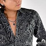 (ブラックバリア) BLACK VARIA シャツ ペイズリー柄 総柄 長袖 レギュラーカラーシャツ ブラック 935002 M
