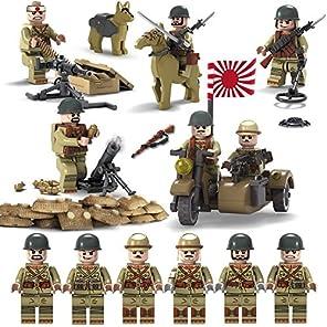 ミニフィギュア 軍隊 日本軍 帝国軍 兵士 武器六体セットレゴ互換