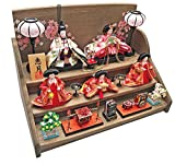 雛人形 ひな人形 焼桐三段飾り (茶木目焼桐)