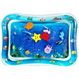 Inflatable Tummy Time Water Play Mat for Baby Infants & Toddlers | Water Play Mat, Inflatable Infant Baby Toys & Toddlers Fun