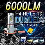 [YOUCM]YAMAHA グランドマジェスティ 2008-2009 EBL-SH06J H4 Hi/Lo 車検対応LEDヘッドライト オールインワン一体型 LUMLEDS ZES 2nd G最新チップ 6000Lm 6500K(純白色) 変光シール付4300K(黄色),8000K(蒼白色)調整可 細い発光 角度調整機能付き DC 12v/24v 1灯 [2年保証付き]