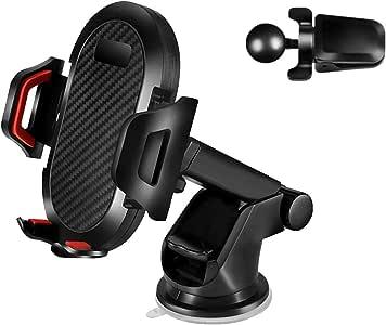 車載 ホルダー スマホ 粘着ゲル吸盤式/エアコン吹き出し口取り付け 2in1 スマホ ホルダー 360度回転可能 携帯車載スタンド カーマウント 片手で操作可能
