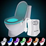 Toilet Night Light, Motion Activated LED Light, Two Modes with 8 Colors Changing Toilet Seat Light for Washroom, Water Resist