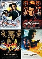 007 James Bond PIERCE BROSNAN (ジェームスボンド ピアース ブロスナン) ポストカード 4枚セット