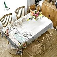 ラウンドテーブルクロス 長方形のテーブルクロス - 3DパーソナライズされたテーブルクロスPG007 - 環境にやさしい - デジタル印刷防水 テーブルクロス (サイズ さいず : Rectangular -50cmx130cm)