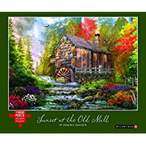 Sunset at the Old Mill: 1000-piece Puzzle