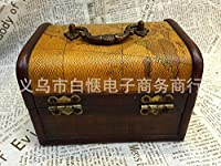 ANR 宝箱 木製 アンティーク調 大小2個セット 海賊 財宝 ジュエリーボックス アクセサリー 小物入れ (地図)
