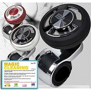 車用パワーハンドルノブ -ブラック カー用品アクセサリー インテリア 簡単なインストール - BLACK LABEL Platinum Power Handle