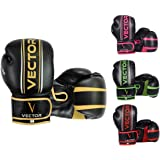 Vector Sports Boxing Gloves for Men Women, Maya Hide Leather Hand Crafted Pro Style for Kickboxing Sparring Heavy Bag Trainin