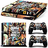 Hambur? PS4 Console Designer Skin for Sony PlayStation 4 System plus Two(2) Decals for: PS4 Dualshock Controller --- Grand Theft Auto V 5 Game Series GTA V 5 by Hambur [並行輸入品]