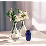 Keepsake Cremation Urn - Mini Funeral Memorial with in Blue Design for Sharing of Token Amount of Ashes, Miniature Burial, Fu