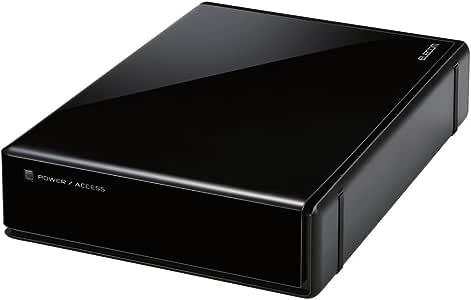 エレコム HDD 外付けハードディスク 4TB SeeQVault対応 静音ファンレス設計 ブラック  ELD-QEN040UBK