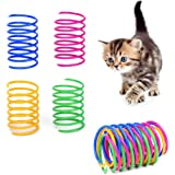 Cat Spring Toys- 60Pack Colorful Coils for Kittens Creative Supplies Spiral Springs Coil Springs for Cats Kittens,Lightweight