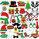 KUUQA クリスマス 写真撮り 道具 クリスマス 飾り セット パーティー 小物(39個)