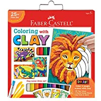 Faber-Castell Do Art Colouring with Clay - Modelling Clay Art for Kids