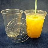 蓋付透明プラスチックカップ 14オンス 100組