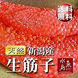 魚水島 新潟産 生筋子(生いくら)季節限定「ずっしり大粒 生すじこ」 1kg