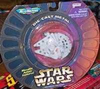 Micro Machines Die Cast Metal Star wars Millennium Falcon Movable Action Feat...