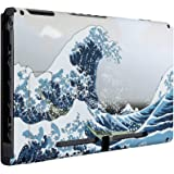 eXtremeRate Soft Touch Grip The Great Wave Console Back Plate DIY Replacement Housing Shell Case for Nintendo Switch Console