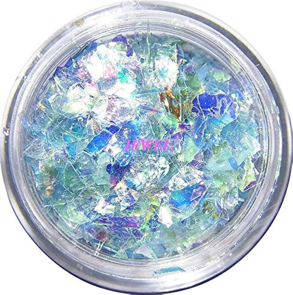 引き付けるオークランドイライラする【jewel】乱切りホロ 0.7g入り 12色から選択可能 クラッシュホログラム パステルカラー 素材 手芸 レジン ネイルアート パーツ (ライトブルー)