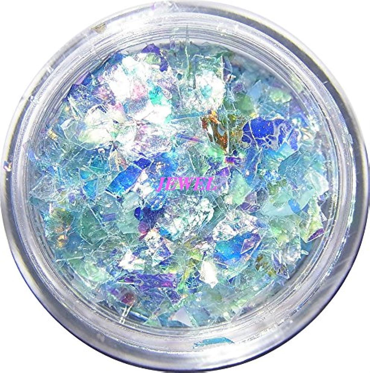ボランティアスクラップ埋める【jewel】乱切りホロ 0.7g入り 12色から選択可能 クラッシュホログラム パステルカラー 素材 手芸 レジン ネイルアート パーツ (ライトブルー)