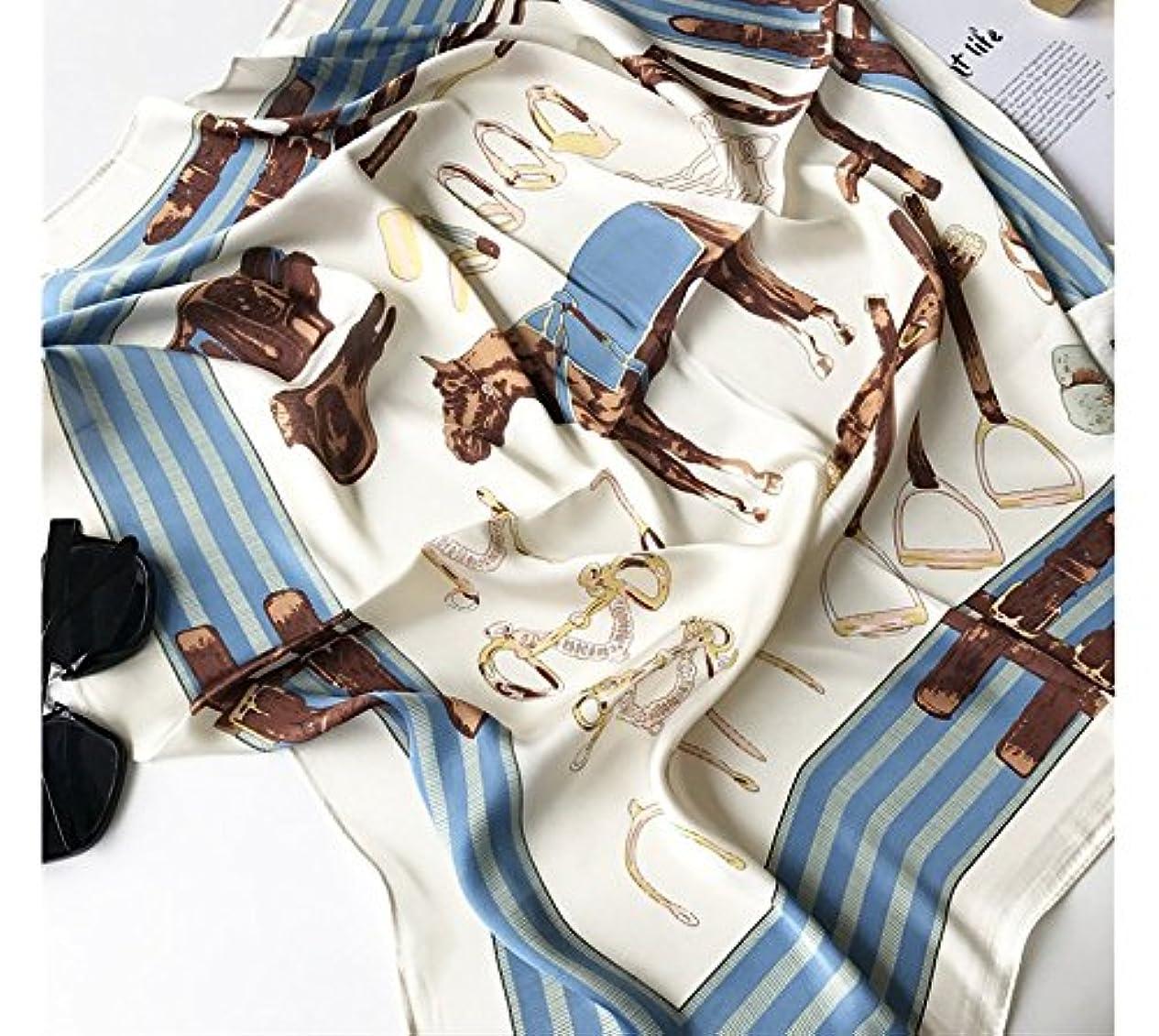 スティック公爵苦しむSFK (シフク) レディースファッション サテン スカーフ レトロ 角正方形 大判正方形 スカーフ 柔らか 肌触り 70X70cm