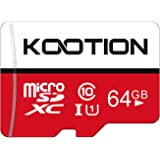 KOOTION 64GB Micro SD Card Class 10 TF Card UHS-1 MicroSDXC Memory Card, U1, C10, High-Speed 64GB TF Card for Smartphone/Blue